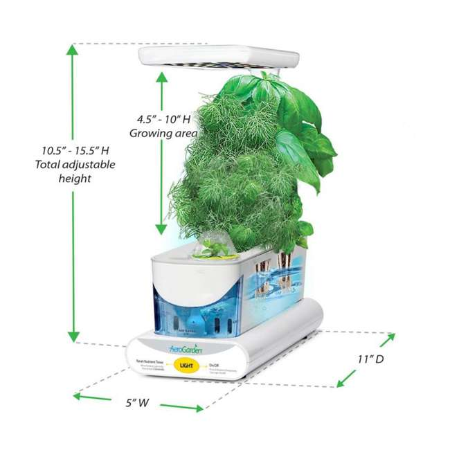 900818-1200 AeroGarden 900818-1200 Sprout LED with Gourmet Herb Seed Pod Kit, White 1