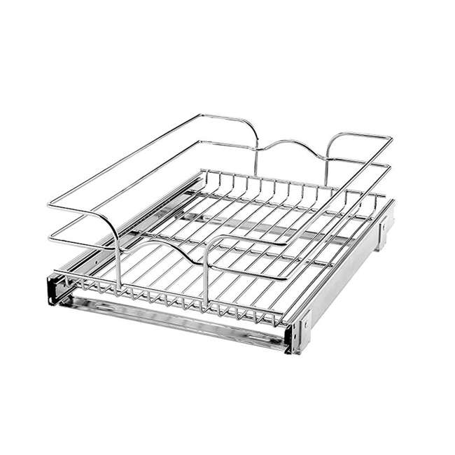 5WB1-1520-CR Rev-A-Shelf 15 Inch Wide 20 Inch Deep Base Kitchen Cabinet Pull Out Wire Basket