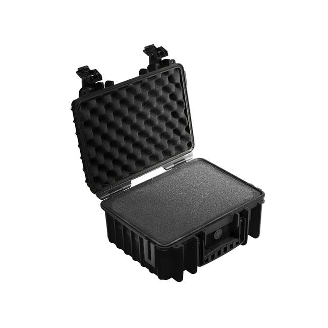 3000/B/SI + CS/3000 B&W International Plastic Outdoor Case w/ Removable SI Foam & Shoulder Strap 1