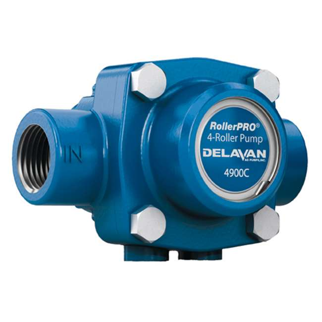 4900C Delavan 4900C 9.2 GPM 150 PSI 2600 RPM Cast Iron Solid Shaft 4-Roller Water Pump