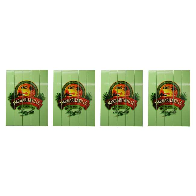 4 x RIOPSSR120-MV Margaritaville Outdoor Tequila Beach Sign, Green (4 Pack)