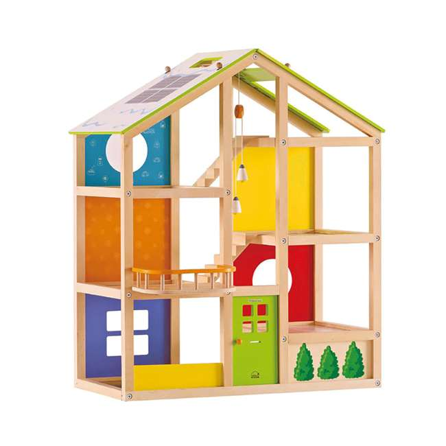 HAP-E3401 Hape All Season House Wooden Dollhouse with Furniture (2 Pack) 2