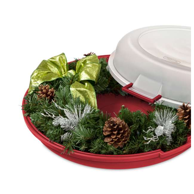 19746606 Sterilite Nesting Christmas Wreath Box 4
