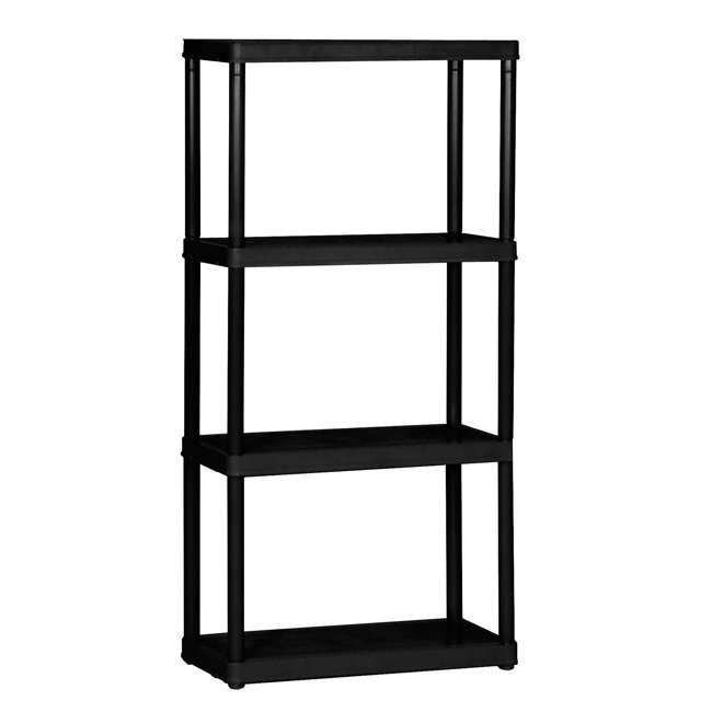 11 x GL91006MAXIT-1C-90 Gracious Living 4-Tier Resin Garage Storage Shelf, Black (11 Pack) 1