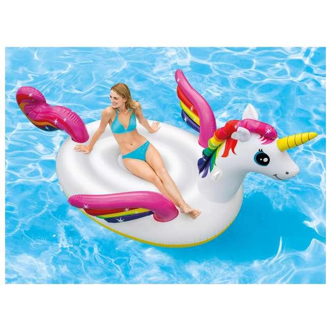 3 x 57281EP-U-A Intex  Giant Mega Unicorn Island Ride On Swimming Pool Float (Open Box) (3 Pack) 1