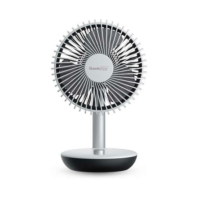 GF5 Geek Aire GF5 Rechargeable Oscillating Portable Mini Silent Table Fan (2 Pack) 1