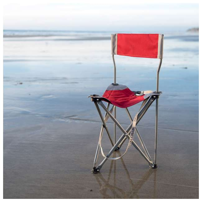 1489V2R TravelChair Ultimate Slacker 2.0 Portable Outdoor Folding Stool Seat Chair, Red 3