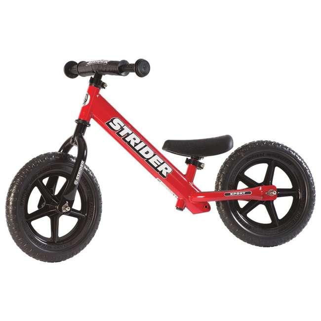 ST-S4RD + PSKISET-12-BK Strider 12 Sport Balance Kids Learning Bike, Red + Strider 12 Inch Bike Snow Ski Set  1