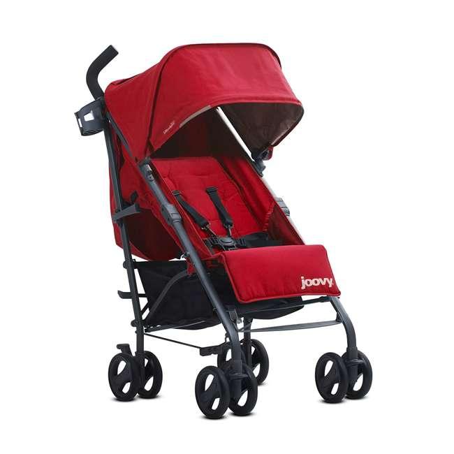 JVY-8121 Joovy Groove Ultralight Compact Canopy Umbrella Stroller, Red 4