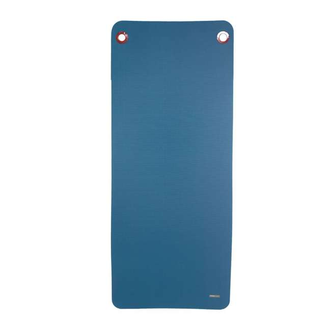 93824 Power Systems Premium Hanging Club Workout Exercise Yoga Gym Mat, Ocean Blue