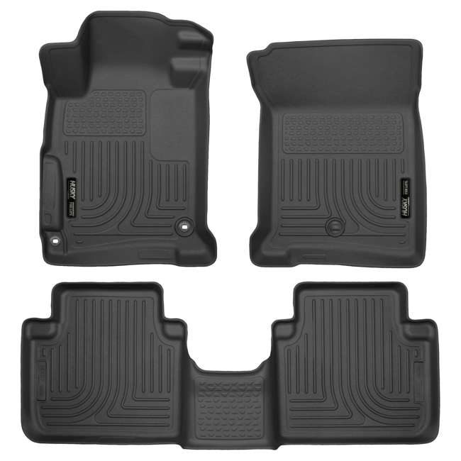 HUSKY-98481-OB Husky Liner Weatherbeater Front & Second Floor Liner for Honda Accord