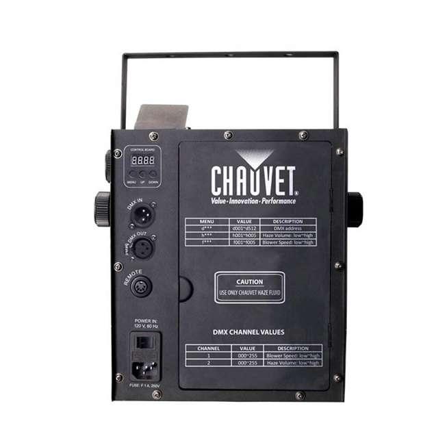 HURRICANE-HAZE2D+FJU+ MINISTROBE-LED + BLACK-24BLB CHAUVET Fog Machine w/ Mini Strobe Light Effect, Black Light & Fog Fluid 3