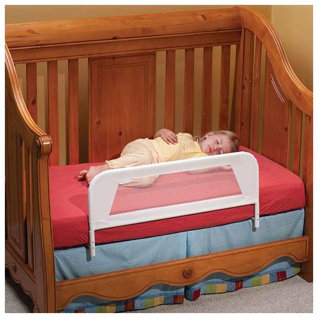 BR103 KidCo Convertible Mesh & Steel Telescopic Crib Bed Rail Guard, White (Open Box) 3