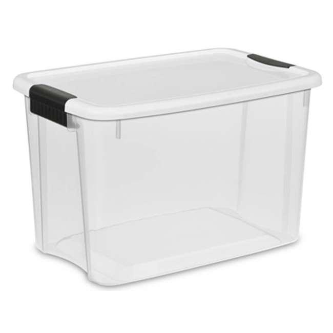 60 x 19859806-U-A Sterilite 30 Quart Ultra Latch Storage Box w/ White Lids (Open Box) (60 Pack)