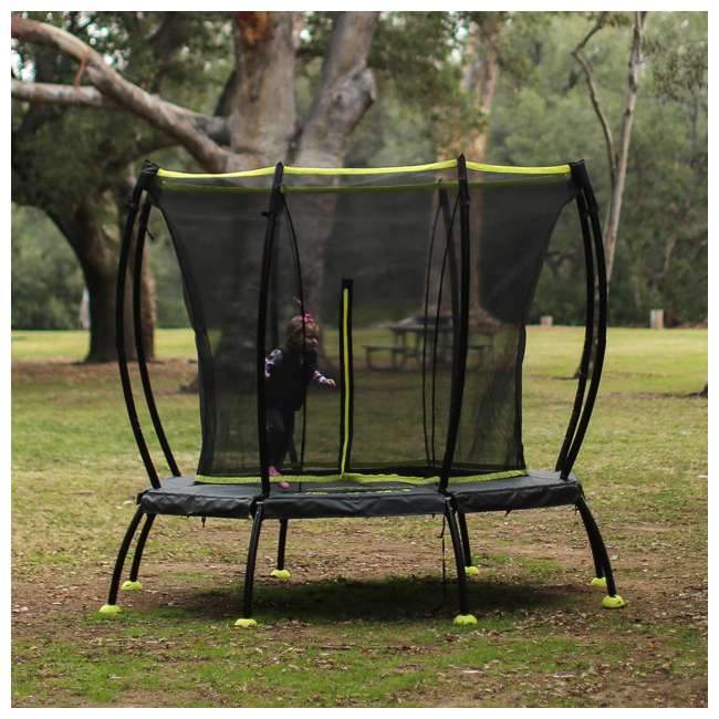 SB-T08ATM02 8-Foot Octagonal Black Trampoline With Safety Net 9