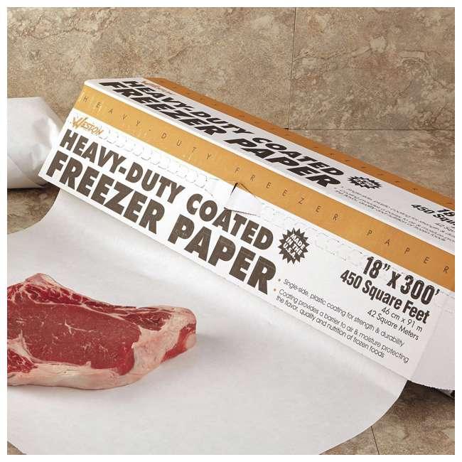 83-4001-W Weston Heavy Duty 18-Inch x 300-Foot Freezer Paper Roll with Cutter Box 2