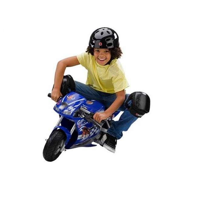 15120040 + 97775 + 96785 Razor Blue Pocket Rocket With Black Sport Helmet And Pad Set  4