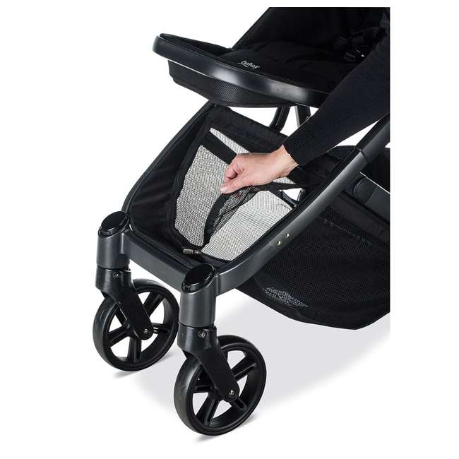 U911905 Britax U911905 B Ready G3 Folding Reclining Travel Canopy Baby Stroller, Black 4