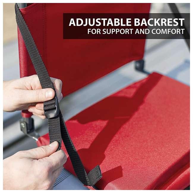 1-1-58813-DS-U-A Eastpoint Sports Adjustable Bleacher Backrest Seat, Red (Open Box) (2 Pack) 4