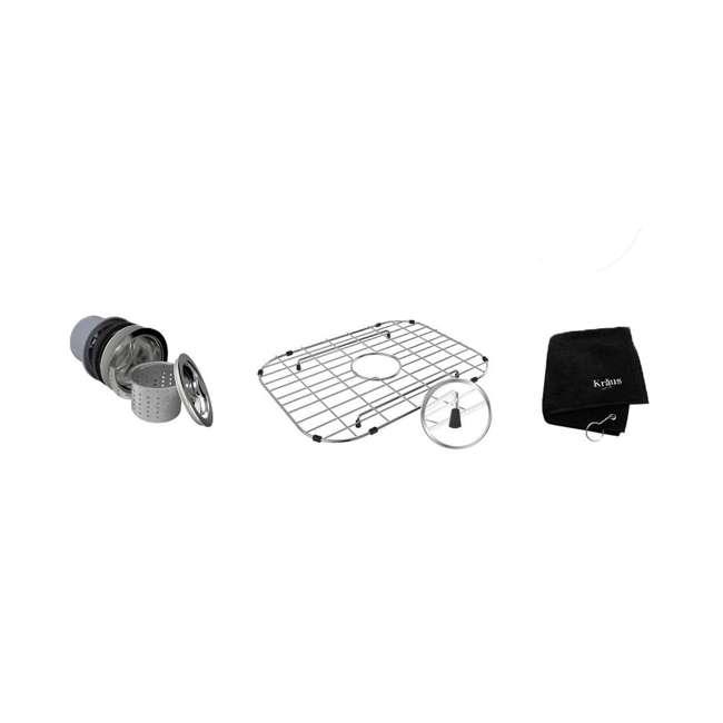 KBU12E-U-A Kraus Outlast 23-Inch Stainless Steel Undermount Single Bowl Sink (Open Box) 2