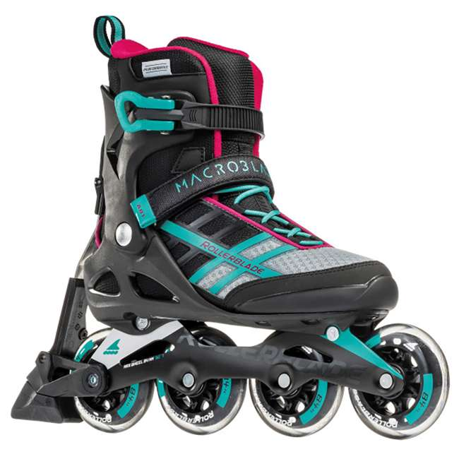 07734500986-6 Rollerblade Macroblade 84 ABT Womens Performance Inline Skates, Emerald Green 3