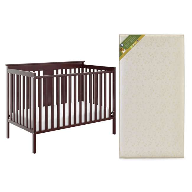 04510-359 + EM711-GJL1 Storkcraft Mission Ridge Bed, Espresso & Sealy Soybean Mattress