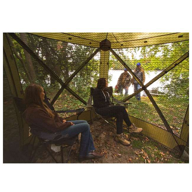 CLAM-TV-9870 + CLAM-WP-2PK-9896 Clam Quick-Set Traveler Shelter w/Wind Panels (2 Pack), Green 6