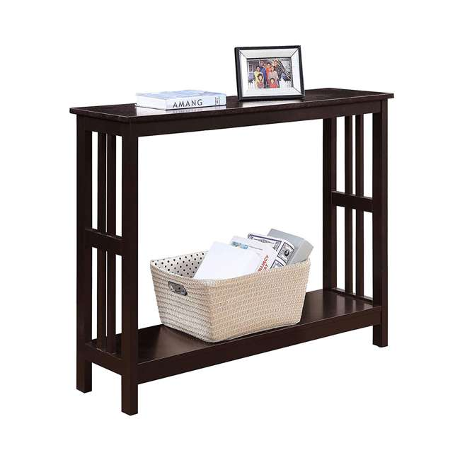 S20-249 Convenience Concepts Mission Wooden Painted Console Table, Espresso 3