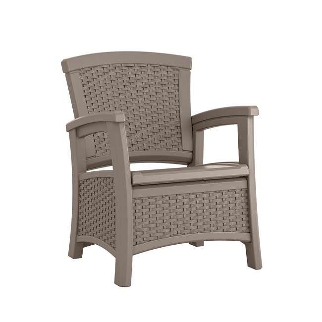 BMCC1800DT Suncast BMCC1800DT Elements Wicker Design Club Chair with Storage (2 Pack) 5