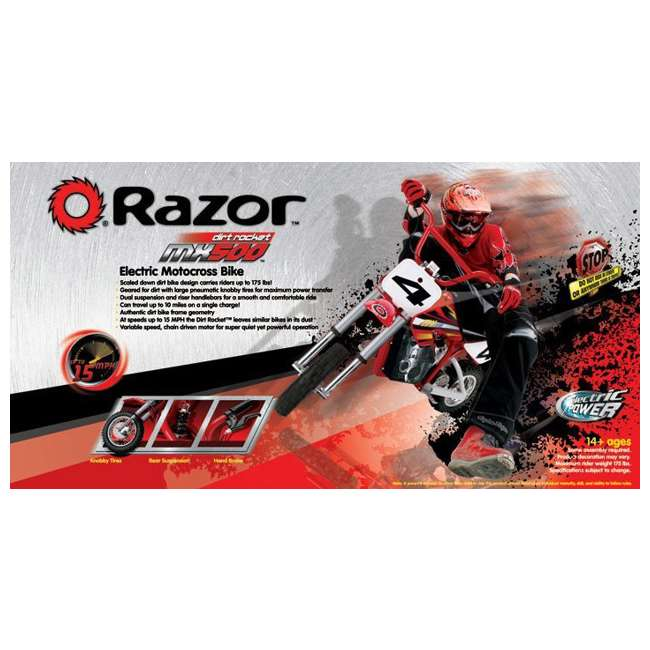 15128190  Razor MX500 Kids Dirt Rocket Electric Bike Motorcycle 7