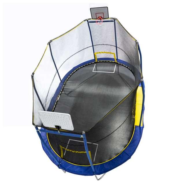 JK1015OVBHSG JumpKing JK1015OVBHSG 10 x 15 Foot Trampoline with Enclosure & Basketball Hoops 1