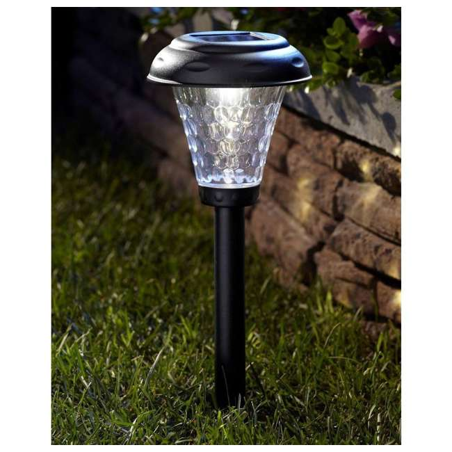 MR-91381 Moonrays 91381 Payton 2.4 Lumens Solar LED Plastic Landscape Path Lights, 8 Pack 2