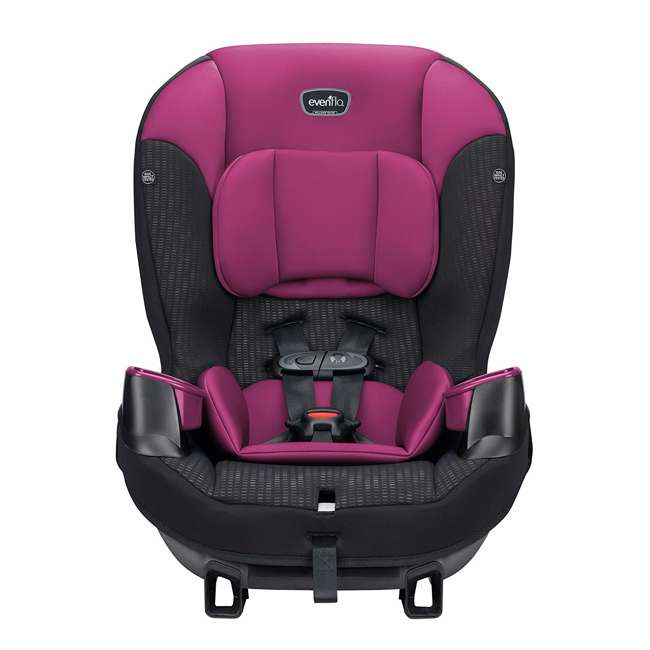 34812024 Evenflo Sonus 2 in 1 Convertible Travel Infant Baby Toddler Car Seat, Berry Beat 1