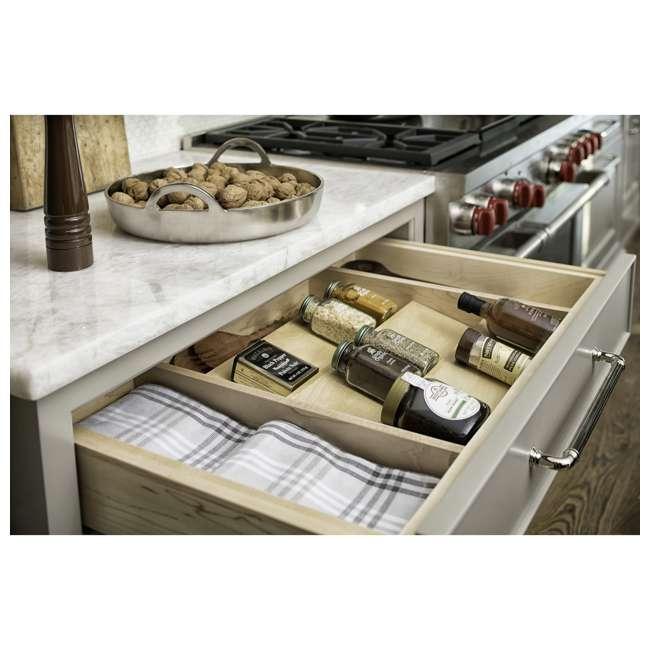 "4SDI-18-U-A Rev A Shelf 18"" Wood Spice Kitchen Drawer Insert, Maple  (Open Box)  (2 Pack) 3"
