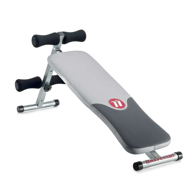 UNIVERSAL-003-9067 Universal UB100 Decline Exercise Fitness Bench with Dual Incline Positions, Gray