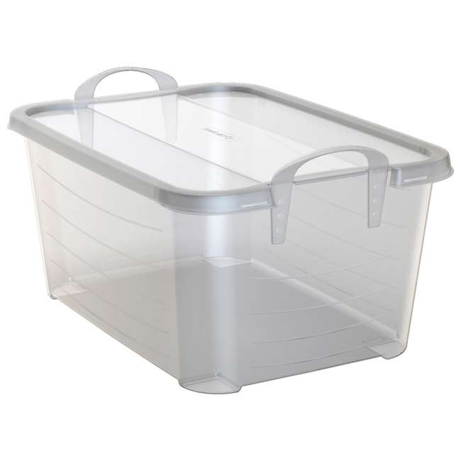 24 x CS-50 Life Story Clear Closet Organization & Storage Box 55 Quart (Open Box) (24 Pack)