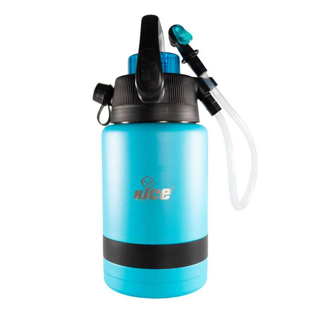 TPF-518735 nICE Coolers Pump2Pour 1 Gallon Insulated Jug with Hose and Spout, Miami Blue