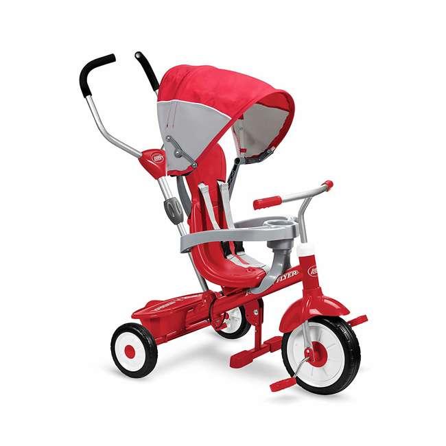 809A Radio Flyer Sport 4 in 1 All Terrain Kids Stroll 'N Trike Ride On Tricycle, Gray