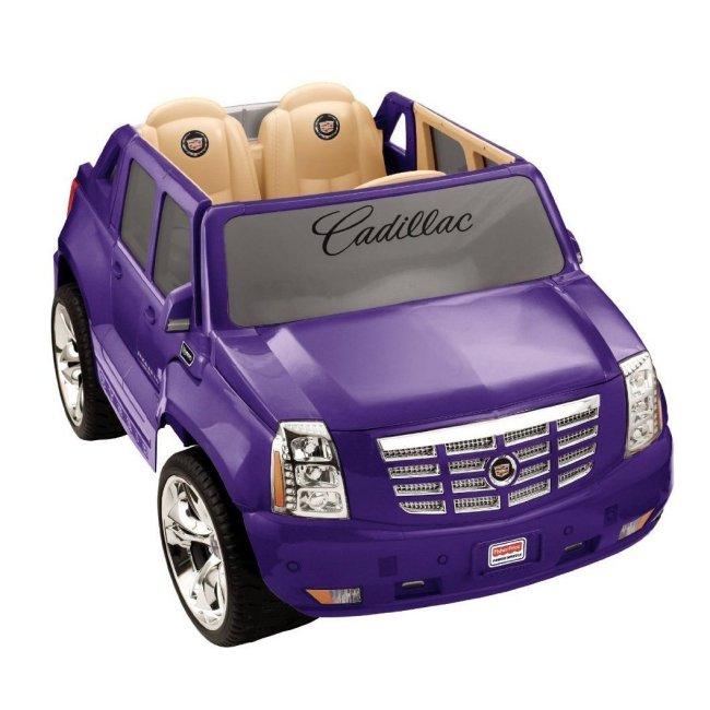 X3419 Power Wheels Cadillac Escalade 12V Electric Ride-On - Purple | X3419 1
