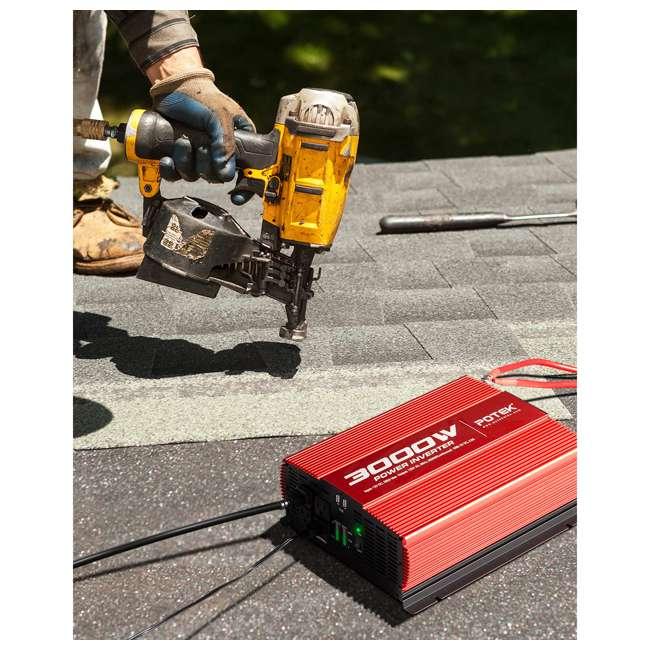 MA3000-1121 Potek MA3000-1121 3000W 4 AC Outlet & 2 USB Port Portable Power Inverter, Red 3