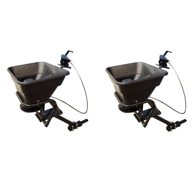 AS-80ATV12 Field Tuff ATV Hitch-Mount 80-Pound Seed and Fertilizer Spreader (2 Pack)