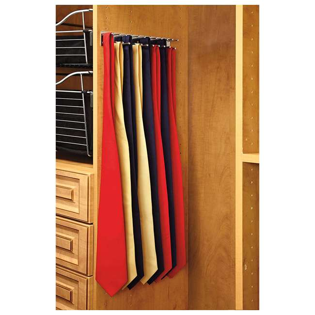 TRC-14CR Rev-A-Shelf TRC-14CR 14 Inch Side Mount Extending Tie Organization Rack, Chrome 2