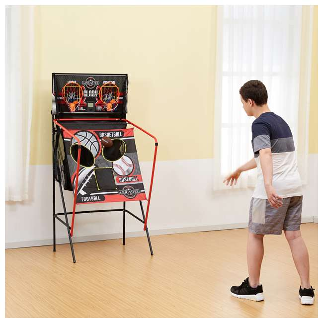 BBG019_018P-U-A Lancaster 2 Player Scoreboard Arcade 3 in 1 Basketball Sports Game (Open Box) 7