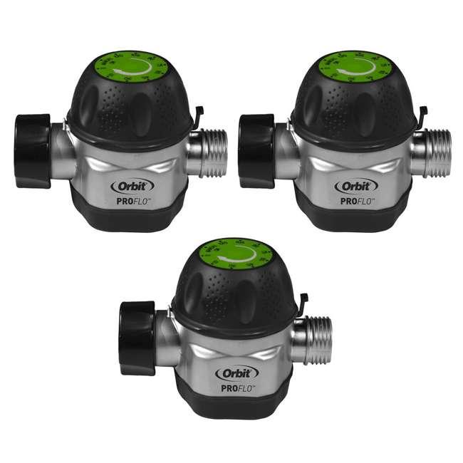 3 x ORBIT-62041 Orbit High Flow Metal Mechanical Garden Faucet Watering Hose Timer (3 Pack)