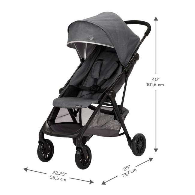 19142265 Evenflo Sibby Stroller Travel System with Folding Design and Storage, Charcoal 3