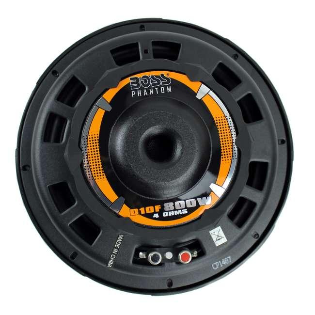 D10F Boss 10-Inch 800 Watt Shallow Subwoofer 5