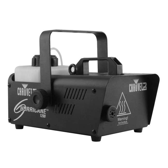 H1200 + 2 x HDF Chauvet DJ Hurricane 1200 1.0L Fog Machine w/ Wired Remote & Fog Juice (2 Pack) 2