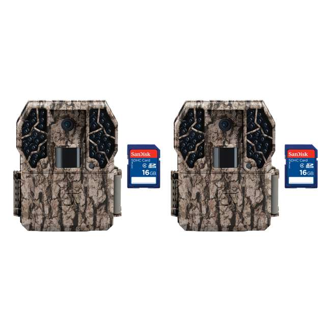 STC-Z36NGCMO + 2 x SD4-16GB-SAN Stealth Cam Z36 No Glo 10MP Trail Game Camera, 2 Pack with SD Cards
