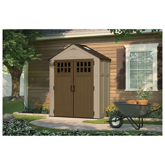 BMS6310D Suncast Everett 6 ft. 3 in. W x 2 ft. 9 in. D Outside Storage Equipment Shed 2
