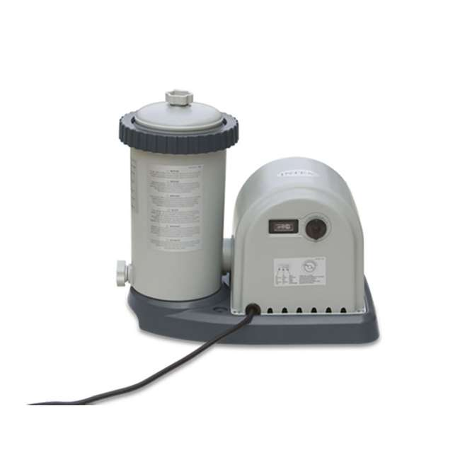 28635EG + 29002E Intex 1500 GPH Pool Filter Pump & A/C Filter Cartridges (2 Pack)  3